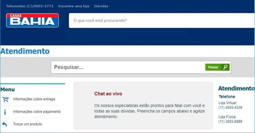 88af919623dce ▷ Telefone Casas Bahia p  Falar com Atendente
