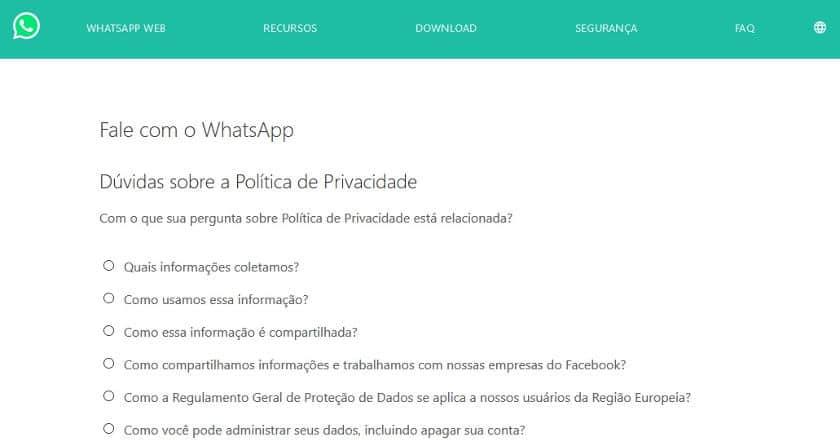 telefone whatsapp