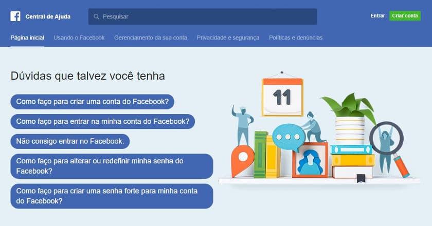 telefone facebook