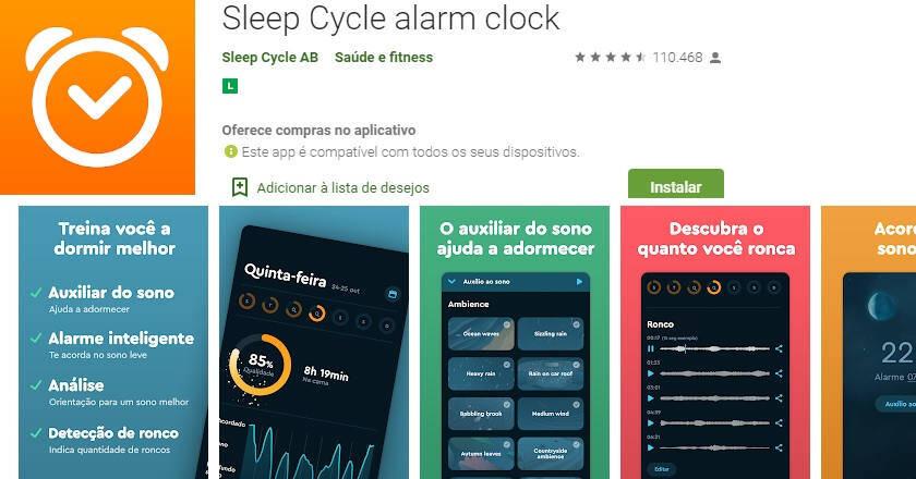 aplicativo para dormir melhor