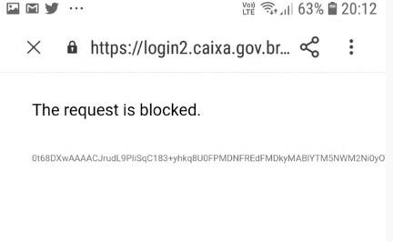 the request is blocked caixa tem