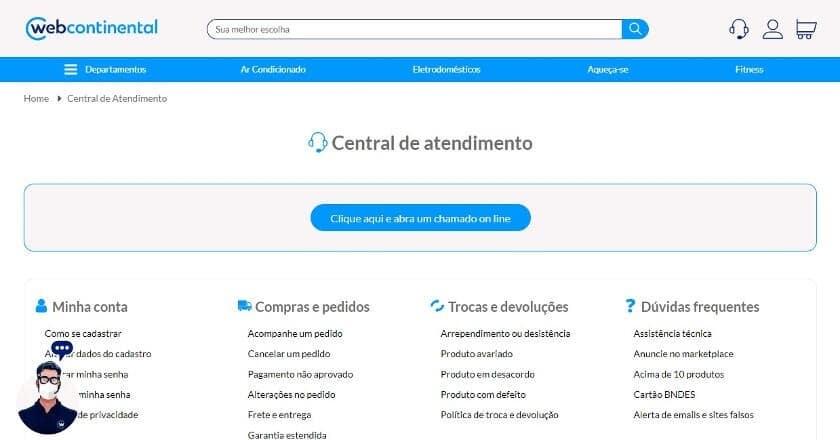 telefone web continental