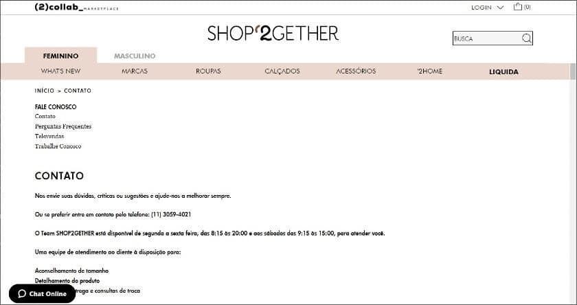 telefone shop2gether