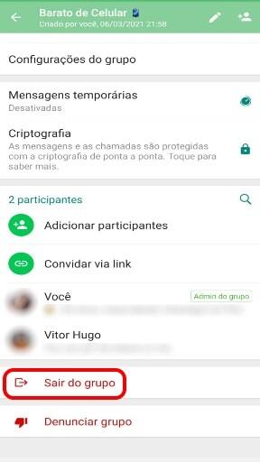 Como Sair de um Grupo no WhatsApp